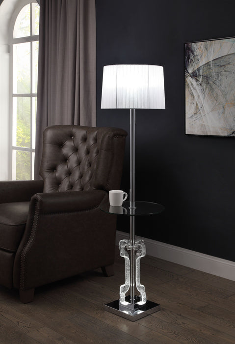 Melinda Clear Acrylic & Chrome Floor Lamp image