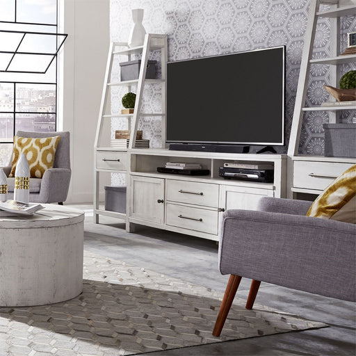"Liberty Modern Farmhouse 46"" Entertainment Center with Piers in White image"