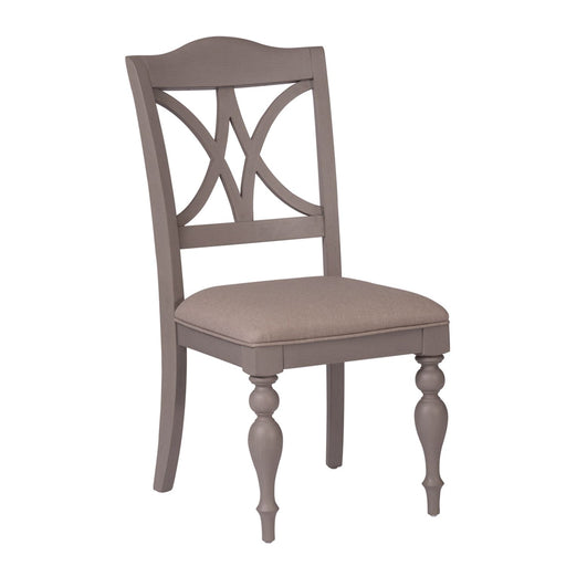 Liberty Furniture Summer House Slat Back Side Chair (RTA) in Dove Grey 407-C9001S (Set of 2) image