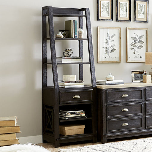 Liberty Heatherbrook Leaning Bookcase Pier in Charcoal & Ash 422-HO201 image