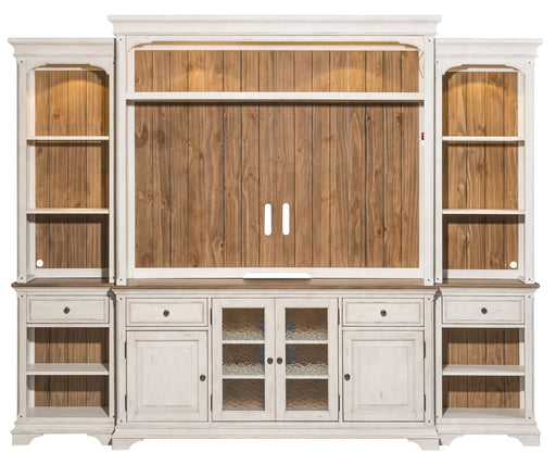 "Liberty Morgan Creek 66"" Entertainment Center with Piers in Antique White image"