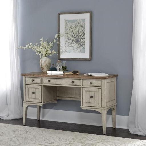 Liberty Furniture Farmhouse Reimagined Vanity Desk in Antique White 652-BR35 image