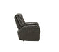 Imogen Gray Leather-Aire Recliner (Power Motion) image