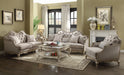 Chelmsford Beige Fabric & Antique Taupe Sofa w/5 Pillows image