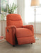 Catina Orange Fabric Recliner w/Power Lift image