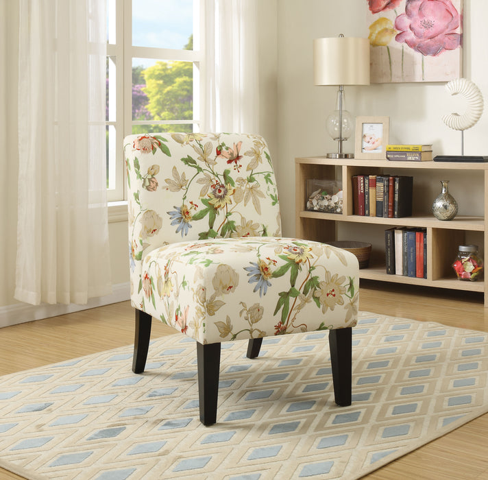 Ollano Floral Fabric Accent Chair image