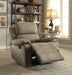 Bina Taupe Polished Microfiber Recliner (Motion) image