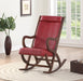 Triton Burgundy PU & Walnut Rocking Chair image