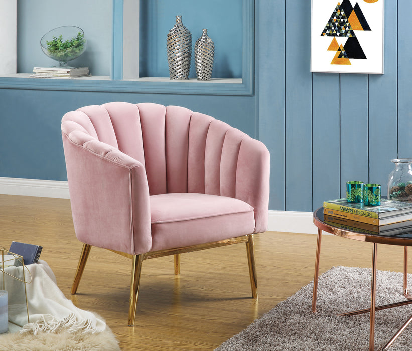 Colla Blush Pink Velvet & Gold Accent Chair image