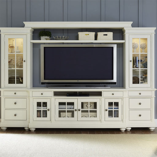 Liberty Harbor View Entertainment Center with Piers in Linen 631-ENTW-ECP image