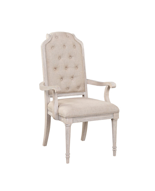 Wynsor Fabric & Antique Champagne Arm Chair image