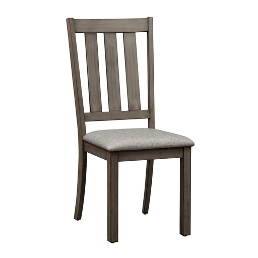 Liberty Furniture Tanners Creek Slat Back Side Chair (RTA) in Greystone 686-C1501S (Set of 2) image