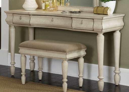 Liberty Furniture Rustic Traditions 3 Drawer Vanity in Rustic White 689-BR35 image