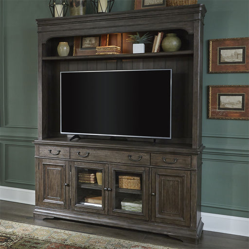 Liberty Furniture Homestead Entertainment Center in Burnished Sage/Gray image