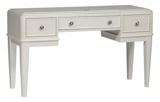 Liberty Furniture Stardust Vanity Desk in Iridescent White 710-BR35 image