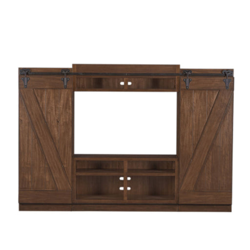 Liberty Lancaster II Entertainment Center with Piers in Antique Brown 712-ENTW-ECP image