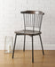 Orien Black & Brown Oak Side Chair image