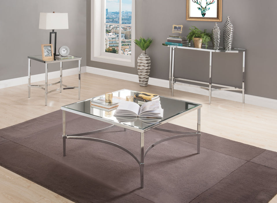 Petunia Chrome & Mirror Coffee Table image