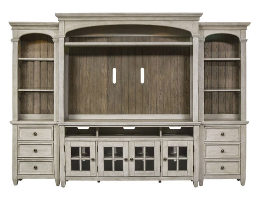 "Liberty Heartland 66"" Entertainment Center with Piers in Antique White image"