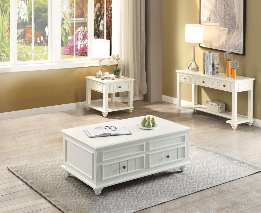 Natesa White Washed Coffee Table image