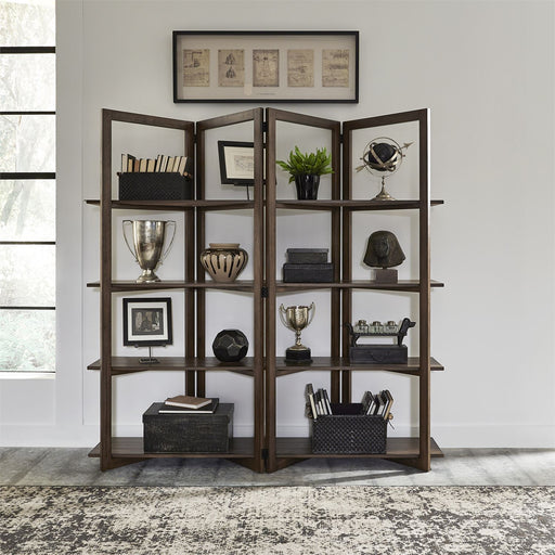 Liberty Furniture Lennox Open Bookcase in Weathered Chestnut 871-HO201 image