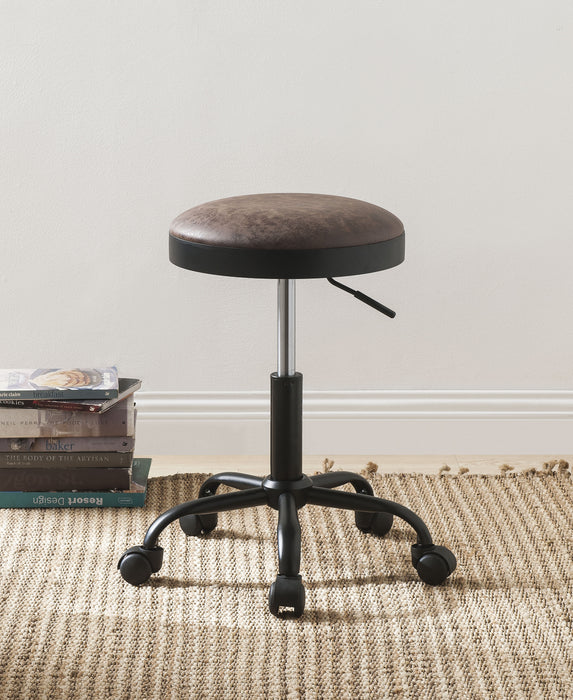 Ouray Vintage Mocha PU & Black Adjustable Stool image
