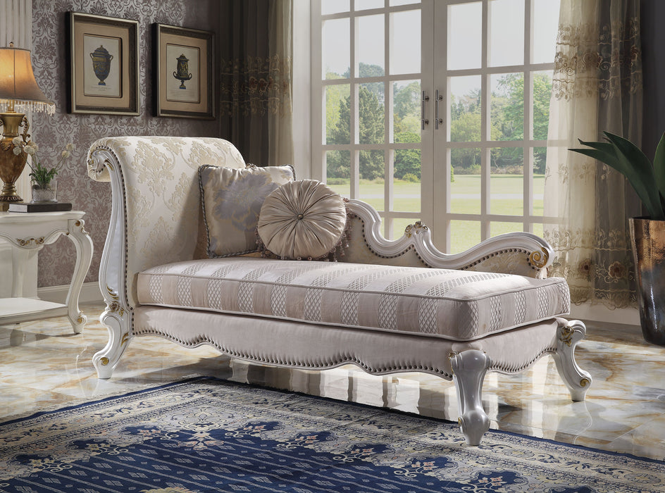 Picardy Antique Pearl & Fabric Chaise w/ Pillows image