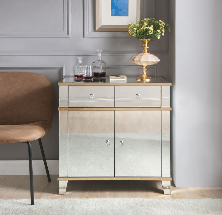 Osma Mirrored & Gold Console Table image