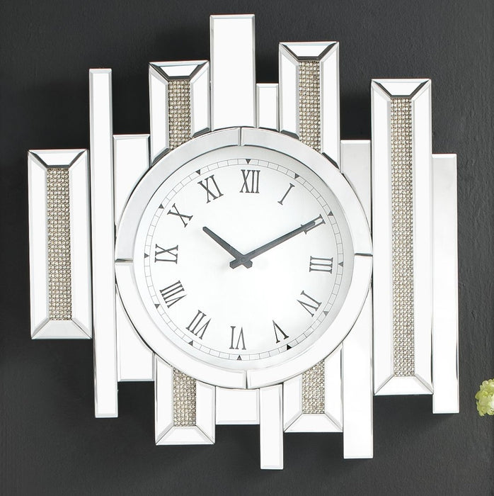 Lavina Mirrored & Faux Diamonds Wall Clock image