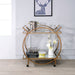 Traverse Champagne & Mirrored Serving Cart image