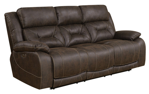 Aria Power Recliner Sofa w/ Power Head Rest - Saddle Brown image