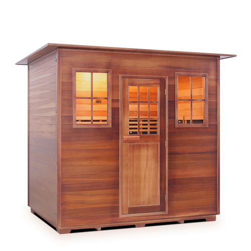 Enlighten Sauna - Sapphire 5 Indoor Infrared/Traditional Hybrid Sauna