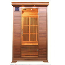Load image into Gallery viewer, 2 Person Cedar Sauna w/Carbon Heaters/Vertical Heater Panels - HL200K1 Cordova (8-10 Week Lead Time)