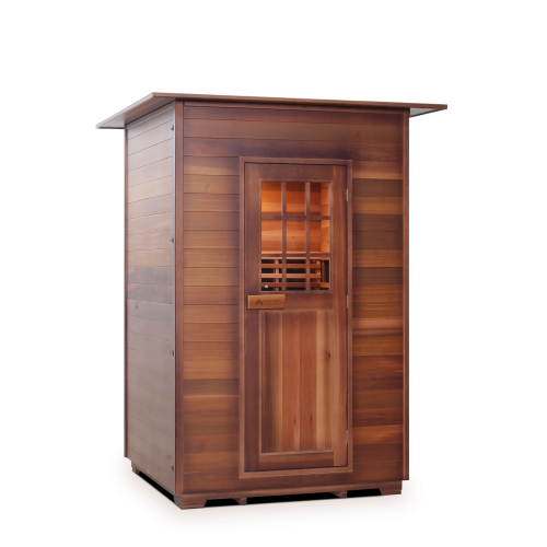 Enlighten Sauna - Sapphire 2 Indoor Infrared/Traditional Hybrid Sauna