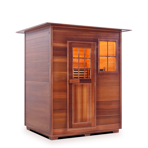 Enlighten Sauna - Sapphire 3 Indoor Infrared/Traditional Hybrid Sauna