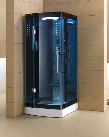Mesa WS-301A-Blue Glass 36x36 Steam Shower
