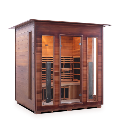 Enlighten Sauna - Diamond 4 Indoor Infrared/Traditional Hybrid Sauna