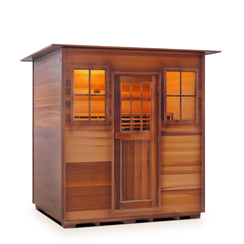 Enlighten Sauna - Sapphire 4 Indoor Infrared/Traditional Hybrid Sauna