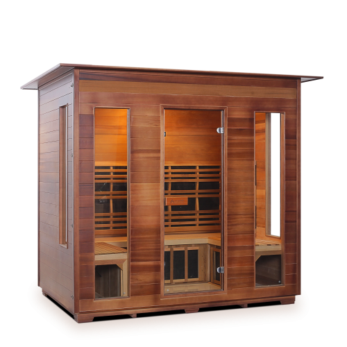 Enlighten Sauna - Diamond 5 Indoor Infrared/Traditional Hybrid Sauna