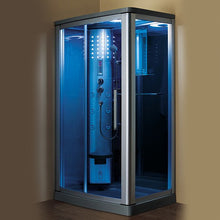 Load image into Gallery viewer, Mesa WS-802L (R/L) 45x32 Blue Glass Steam Shower