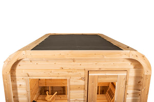 View of the roof with roof cover of the Dundalk Leisurecraft Canadian Timber Luna Sauna