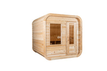Load image into Gallery viewer, Dundalk Leisurecraft Canadian Timber Luna Sauna with white background facing the right