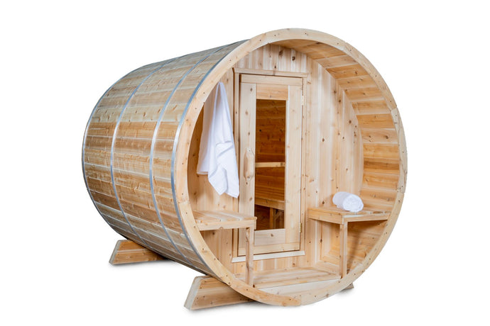 Dundalk Leisurecraft Serenity Barrel Sauna - Canadian Timberline