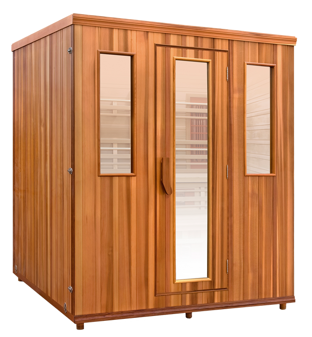 Health Mate Elevated Bi-Level Infrared Sauna image facing right with blank background
