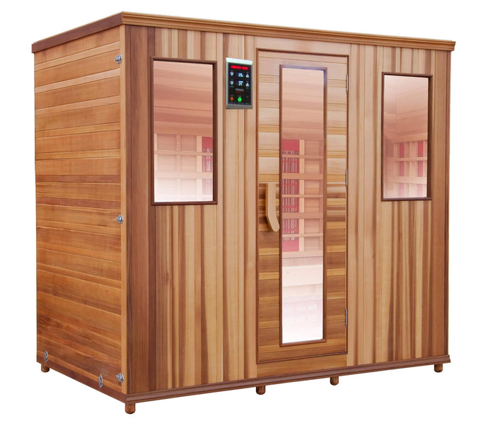 Health Mate - Therapy Lounge Infrared Sauna right facing view with plain blank background