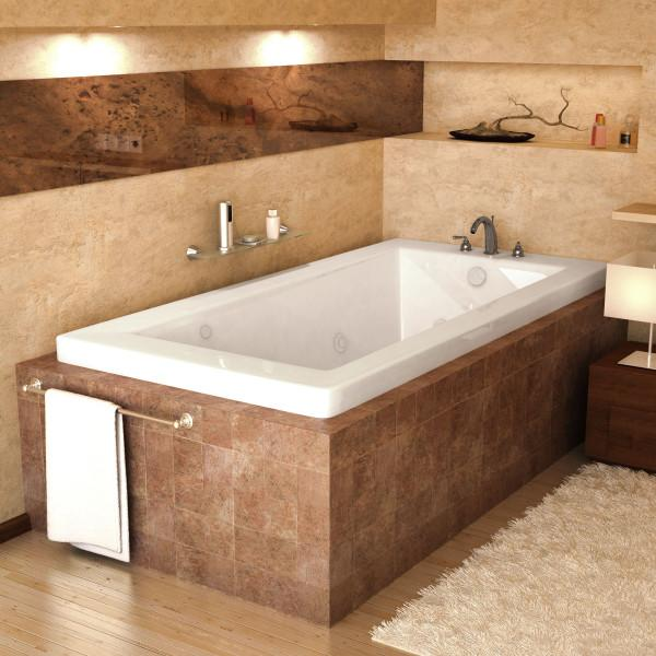 Atlantis Whirlpools Venetian 36 x 60 Rectangular Air & Whirlpool Jetted Bathtub Right Sided - 3660VNDR