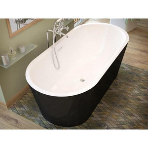 Atlantis Whirlpools Valley 32 x 67 Freestanding One Piece Soaker Tub with Center Drain - 3267VY