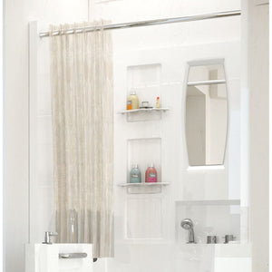MediTub Shower Enclosure 31 x 40  3-Piece Walk-In Bathtub Surround in White - 3140SEN