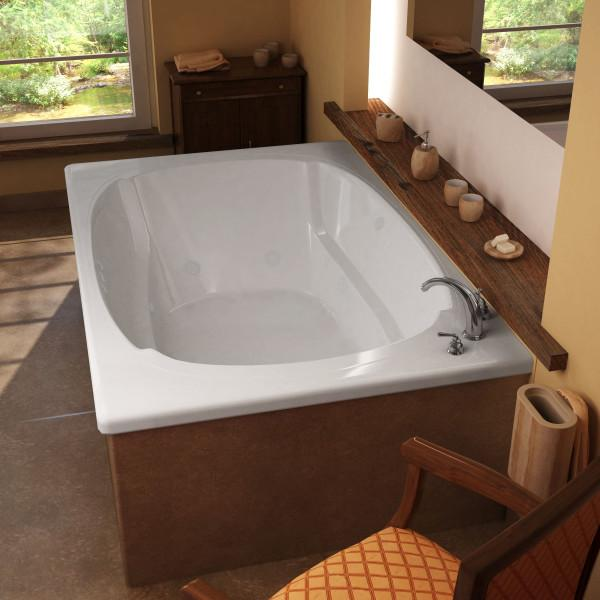 Atlantis Whirlpools Charleston 48 x 78 Rectangular Whirlpool Jetted Bathtub Left Sided