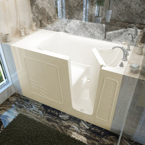 MediTub Walk-In 30 x 60 Right Drain Biscuit Soaking Walk-In Bathtub - 3060WIRBS